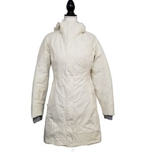 North Face Off White Long 550 Dry-vent Down Coat S